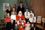 Boys, Girls, Father, Grandfather, Grandmother, Santa Claus, 1950s