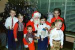 Boys with Santa Claus, 1950s