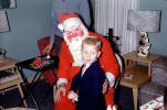 Santa Claus, Boy, Lamp Shade, 1950s