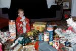 Boy with all his Presents, gifts, Tinkertoy, Truck, 1950s