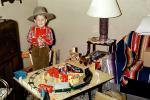 Cowboy and His Choo-Choo Train, Stage Coach, Gun, Hat, 1950s