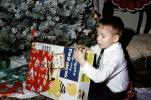 Holgate Page Desk, Boy Opening Present, tree, tie
