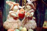 Eggs, Rabbits, Bunny, Cute, Decorated Eggs, ladies, dress, PHEV01P07_04