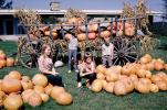 Wagon, Pumpkins, 1950s