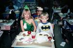 Princess, Batman, Cake, Classroom Party, 1960s