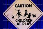 caution, children at play, warning