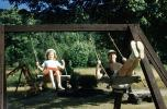 Swing, 1950's, Backyard, lawn, grass