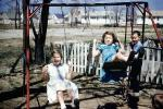swing set, backyard, smiles, Akron Ohio, 1950s, PLGV03P11_05