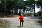 Mary, Running Girl, red riding hood, skirt, cold, hoody, April 30 1965, 1960s