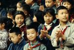 Schoolchidren Singing and Clapping, China