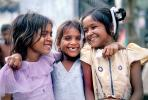 Trio, Giggling, Girls, Mumbai, India