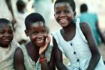 Smiling Girls, friends, Mozambique, PLPV04P13_16