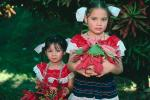 Poinsettia, Girls, Costume, San Salvador, El Salvador