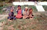 Friends, Barefeet, girls, boys, smiles, smiling, Bhutan, 1950's
