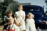 Sisters, Brother, Girl, Boy, 1950s