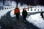 Walking in the Snow, Girl, Woman, Mom, Daughter, Snowy Road, Akron Ohio, 1960s, PLPV16P14_14