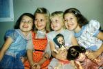Girls, Dolls, Smiles, Akron Ohio, 1950s, PLPV16P15_07