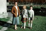 Mom, Daughter, Son, Sister, Brother, dress, shorts, coat, 1950s, PLPV17P01_08