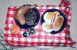 Dinner Table, Breakfast, Eggs, Bacon, Turkey Leg, tablecloth, PLTV01P04_01