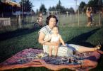 Baby, Diapers, Toddler, Blanket, Backyard, 1946, 1940's