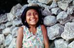 Girl, Face, Smiles, Yucatan Peninsula, Mexico, PORV05P12_19