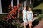 Mother and Daughter, dress, backyard, August 1969, PORV25P11_17