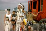 American Indian, Warbonnet, Stage Coach, Family Group, girls, mother, daughter, 1950's, PORV30P01_15