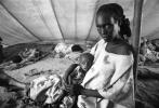 Mother and Her Starving Child, Tuberculosis, Refugee Camp, near the Ethiopia Somalia border, African Diaspora, Somalia, POV35V07P44_18