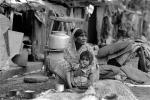 Mother and her daughter, girl, slums, shacks, shanty town, Mumbai, India, POVPCD3306_110