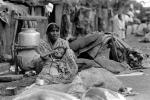 Mother and her daughter, girl, slums, shacks, shanty town, Mumbai, India, POVPCD3306_111