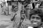 Mother and her daughter, girl, slums, shacks, shanty town, Mumbai, India, POVPCD3306_114