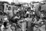 Group, girls, boys, slum, Mumbai, India, POVPCD3306_132