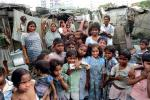 Group, girls, boys, slum, Mumbai, India, POVPCD3306_132B