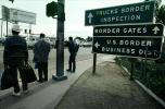 Signs for Mexico USA Border Crossing