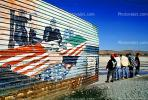 United States and Mexico flags, mural, PRAV01P04_01