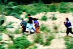 Illegal immigrant, Border patrol, people running, children, PRAV01P04_03