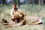 Male Lion, poaching, Poacher, Hunter, poached, Africa, African, 1951, 1950s, PRGV01P10_11