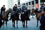 1984 Democratic Convention, Moscone Center, San Francisco, California, mounted police, 1980s, PRLV01P02_01