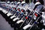 SFPD, Line of Parked Police Motorcycles, PRLV02P06_05