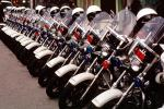 SFPD, Line of Parked Police Motorcycles, PRLV02P06_06