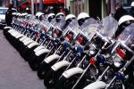SFPD, Line of Parked Police Motorcycles, PRLV02P06_07