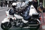 SFPD, Line of Parked Police Motorcycles, PRLV02P06_08