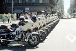 SFPD, Line of Parked Police Motorcycles, PRLV02P06_13