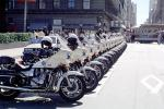 SFPD, Line of Parked Police Motorcycles, PRLV02P06_15