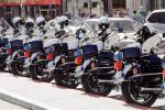SFPD, Line of Parked Police Motorcycles, PRLV02P07_01