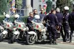 SFPD, Line of Parked Police Motorcycles, PRLV02P07_02