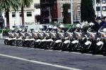 SFPD, Line of Parked Police Motorcycles, PRLV02P07_03