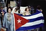 Anti-Castro Rally, Cuba Flag