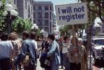 I will not register, anti registration rally