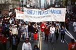 Great Peace March banner, Martin Luther King Jr. Day Parade, MLK, June 20 1986, 1980's, PRSV02P01_03